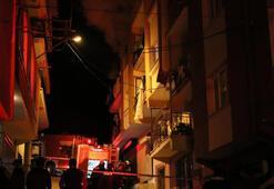 İzmirde yangın 1i bebek 4 kişi etkilendi...