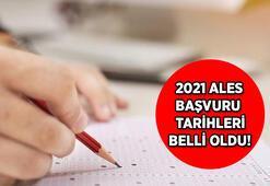 2021 ALES sınavı ne zaman gerçekleştirilecek ALES sınavı için başvurular ne zaman alınacak