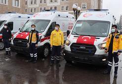 Adıyamana Sağlık Bakanlığı tarafından 8 ambulans gönderildi