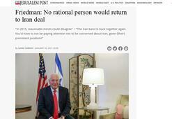 Büyükelçi Friedman: Bidenın İran atamaları endişe yaratıyor