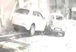 İstanbul'da film sahnelerini aratmayan kaza kamerada