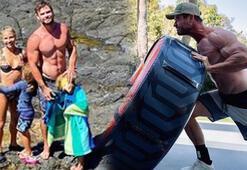 Chris Hemsworthun karın kasları olay oldu