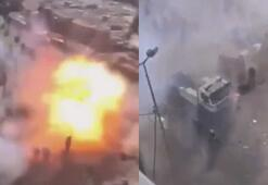 Bağdattaki saldırı anı kamerada
