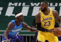 NBAde Lakers, LeBron Jamesin öne çıktığı maçta Bucksı mağlup etti