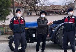 70 gün önce çalınan traktör, JASATın sıkı takibiyle bulundu