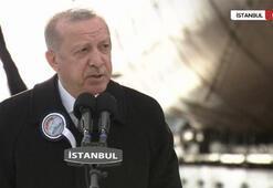 Son dakika İstanbulda tarihi tören Milli fırkateyn İstanbul denize indiriliyor