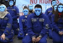 Almanyada Çinin Uygurlara yönelik politikalarına protesto