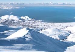 Artos Dağının zirvesindeki kayak görüntüleri nefes kesti