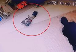 Köpeğe çarpan motosiklet sürücüsü beyin kanaması geçirdi