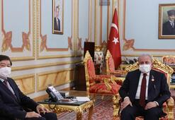 TBMM Başkanı Şentop, TÜRKSOY Genel Sekreteri Kaseinovu kabul etti