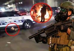 Son dakika... Polis aracıyla üstünden geçti ABD yangın yeri...