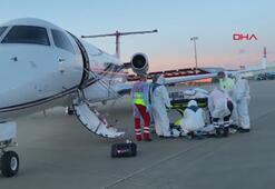 Koronavirüs hastası Türk, Hollandadan ambulans uçakla Türkiyeye getirildi