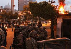 Lübnanda polis, ekonomik kriz ve karantina protestolarına müdahale etti