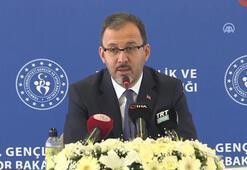 Spor Bakanı Kasapoğlundan önemli açıklamalar