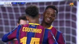 Coutinho'nun 2020/21 Şampiyonlar Ligi'nde Barcelona'da attığı ilk gol!