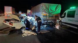 Feci kaza! Otomobil demir yığınına dönüştü