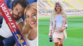 Türkiye-İtalya maçını birlikte izlediler! Can Yaman ile Diletta...