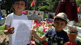 6 yaşındaki şehit oğlundan babasına duygulandıran mektup
