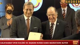 Galatasaray Başkanı Burak Elmas, mazbatasını aldı