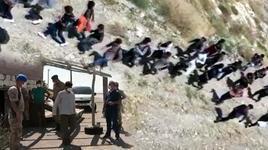 Arazide topluca ilerleyen 113 kaçak göçmen yakalandı