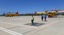 İspanya'nın gönderdiği 2 yangın söndürme uçağı Dalaman'a ulaştı