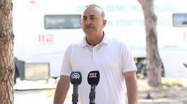Bakan Çavuşoğlu'ndan yangın bölgesinde açıklama