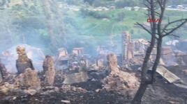 Artvin'in Yusufeli ilçesindeki yangında 33 ev kullanılamaz hale geldi