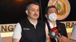 Bakan Pakdemirli: 'Son ateş sönene kadar devam'