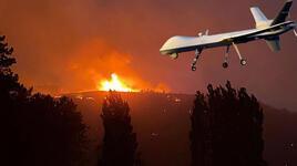 İHA'lardan yangınla mücadelede 462 saat uçuş