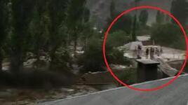 Sel felaketi! 14 kişilik aile evin damına çıkarak kurtuldu