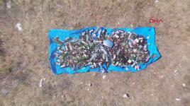 Aydos ve Teferrüç Tepe ormanlarında cam ve atık parçaları toplandı