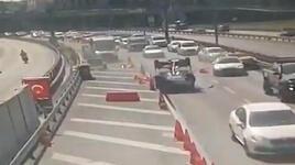 Avrasya Tüneli girişindeki kaza kamerada