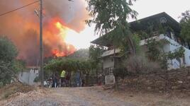 Milas'ta 2 mahallede yaşayanlar tahliye edildi