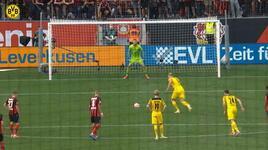 Erling Haaland'ın Leverkusen'e attığı gol