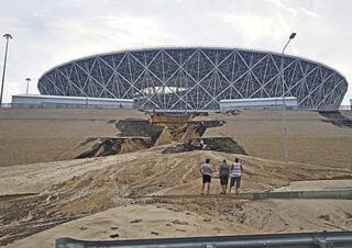 Dünya Kupası stadı şimdiden çökmeye başladı