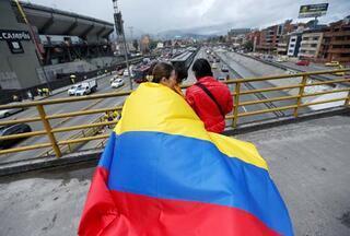 Kolombiyaya ülkesinde coşkulu karşılama