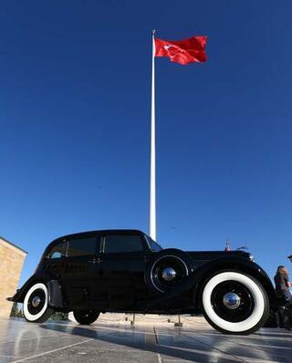Atatürk'ün makam otomobili Anıtkabir'de