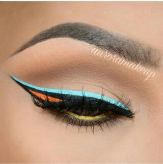 Trend alarmı: Renkli eyeliner