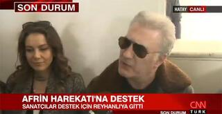 Sanatçılardan Mehmetçike destek Sınıra gittiler...