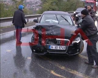 Fenerbahçeli futbolcu kaza yaptı
