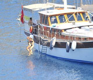 Sıla ve Ahmet Kuralın romantik tatili