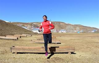 Köyde dünya şampiyonasına hazırlanıyor