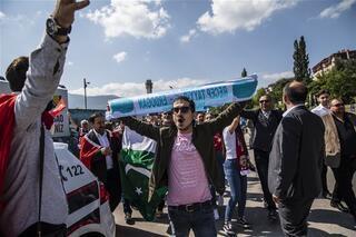 Cumhurbaşkanı Erdoğana Saraybosnada sıcak karşılama