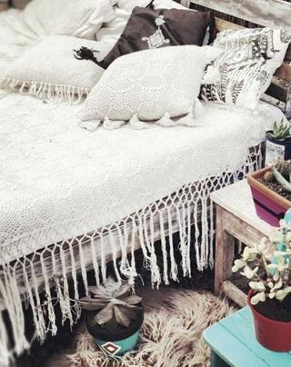 En güzel bohem yatak odası dekorasyonları