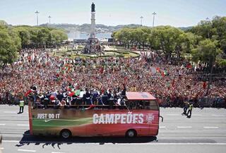 Portekiz Milli Takımı ülkede böyle karşılandı