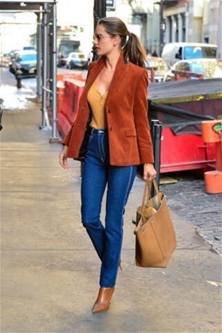 Alessandra Ambrosio, New York sokaklarında