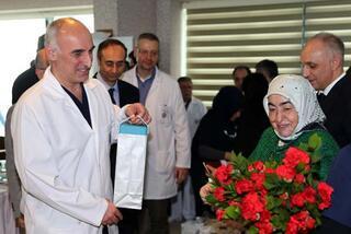 Semiha Yıldırım, sağlık çalışanlarıyla bir araya geldi