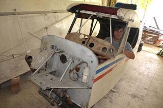 Bodrum katında bulunan uçak satışa çıkarıldı