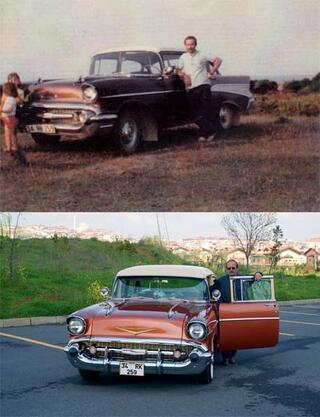 Babasının yıllar önce sattığı arabayı hurda halde buldu... Şimdi görenler hayran kalıyor