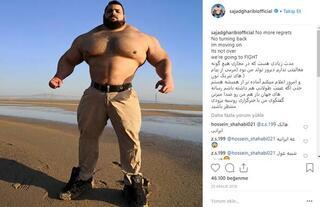 İranlı Hulka dev meydan okuma Kafanı koparacağım